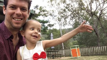 Cairns father Adam Koessler is grieving the loss of his little girl, Rumer Rose.