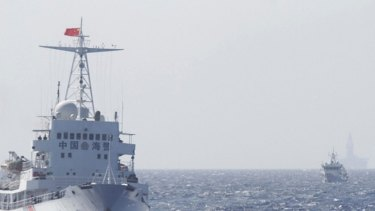 China Coast Guard ships in disputed waters in the South China Sea, about 210 kilometres from Vietnam, last year.