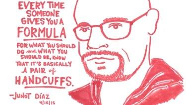 Break the shackles: Kate Gavino's illustration of author Junot Diaz.