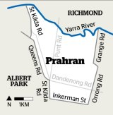The Prahran electorate.