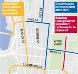 Map of cycleway network as of May 2015.