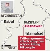 Peshawar is in Pakistan's north-west.