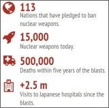 Sources: International Campaign to Abolish Nuclear Weapons, Australian Red Cross.