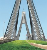 How the Anzac Bridge might look if converted into an elevated park.