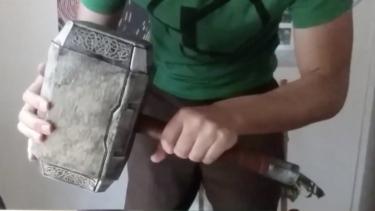 The replica hammer.