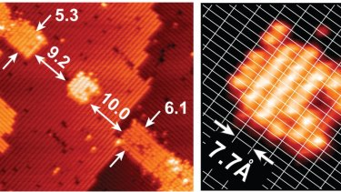 An atomic-scale transistor made by  UNSW researchers unveiled in 2012.