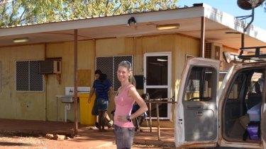 Dr Johnston at a remote Aboriginal health centre in the Tanami Desert.