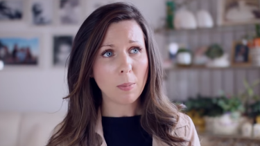 Sale pastor Heidi McIvor in the Coalition for Marriage's new television advertisement.