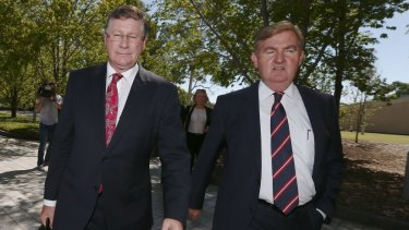 The Nationals' Peter Ryan with Denis Napthine.