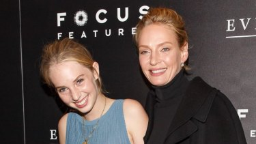 Maya Hawke with her mother, Uma Thurman, in 2014.