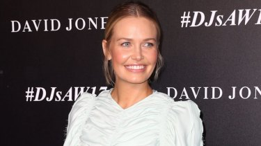 Lara Worthington arrives ahead of the David Jones launch.