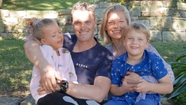 The Murchison family, Mia (far left), Hamish, Peta and Toby.