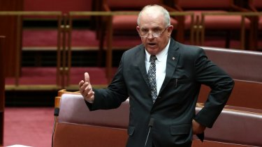 Senator John Williams' speech came only hours after the Senate voted down a motion by the Greens calling on the Abbott government to launch a royal commission into misconduct in the financial services sector.