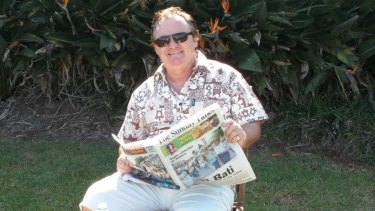 Peter Foster supplied a picture of himself to Fairfax Media while he was on the run two years ago.