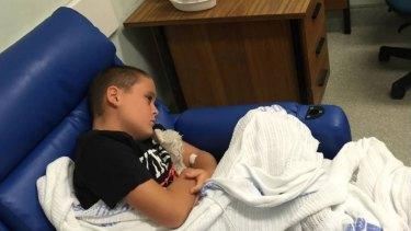 Food poisoned... Cooper Sullivan in Sutherland Hospital.