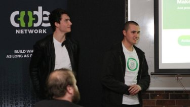 Austin Wilshire, 18, and  Bernd Hartzer, 24, designed the Make Census Great Again project at The Code Network hackathon.