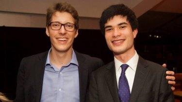 Under pressure: Alex Dore and Julian Chu