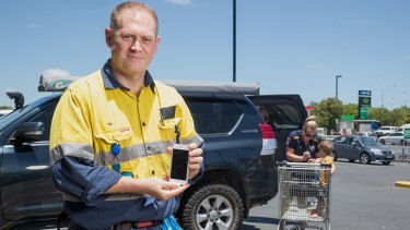 Tim O'Connor's device  alerts parents via mobile phone if a child is left in the car.