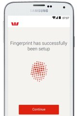 Vote of confidence: Westpac will allow Samsung device users to log on to online banking using a fingerprint.