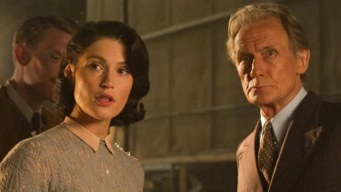 Gemma Arterton and Bill Nighy in <i>Their Finest</i>.