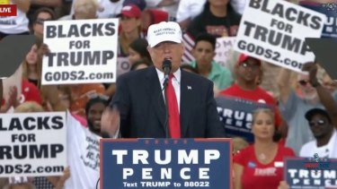 Trump uses his rallies to speak directly to his base, far from the troubles of Washington DC.