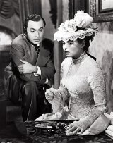 Charles Boyer and Ingrid Bergman in scene from the film Gaslight.