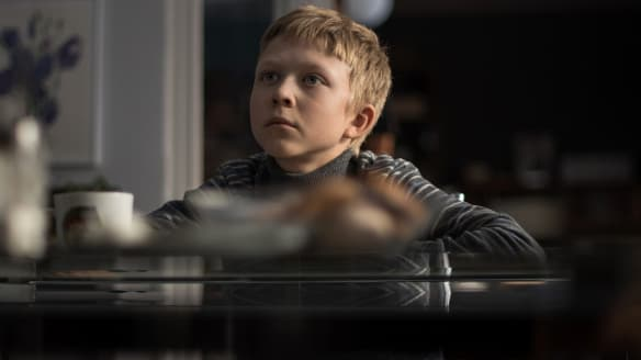 Twelve-year-old Alyosha, played by Matvey Novikov, is at the centre of this bleak thriller.