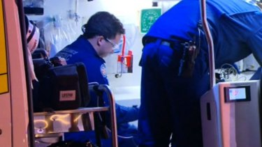 Paramedics took the injured man to Liverpool Hospital, where he died.