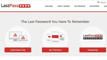 A screenshot of LastPass.