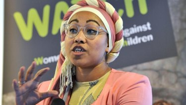 Yassmin Abdel-Magied walked out during the speech by Shriver.