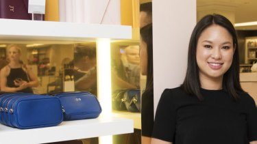 The Daily Edited's Alyce Tran at her  pop-up shop in David Jones.