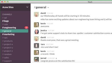 Slack works with programs businesses already use and aims to kill email.
