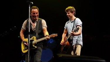 The Brisbane teen played alongside Bruce Springsteen on Thursday evening.