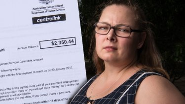 Janette Suffield received a debt letter from Centrelink.
