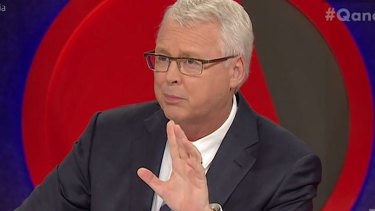 Q&A host Tony Jones.