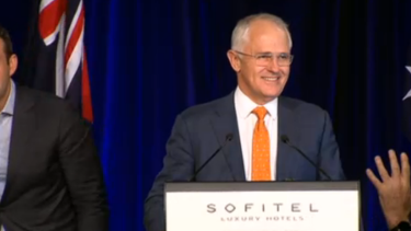 Prime Minister Malcolm Turnbull was confident he could form a majority government.