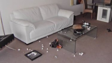 The inside of Tostee's apartment as shown in his Brisbane Supreme Court trial over the death of Warriena Wright.