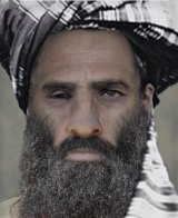 "An ""age-progressed"" image of the late Taliban leader Mullah Omar."