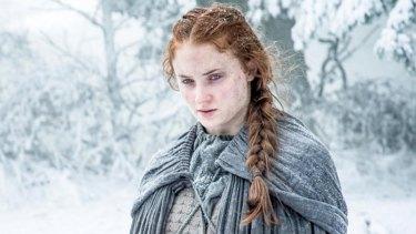 Sophie Turner as Sansa Stark in Game of Thrones.