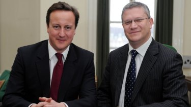 British Conservative MP Andrew Rosindell with Prime Minister David Cameron