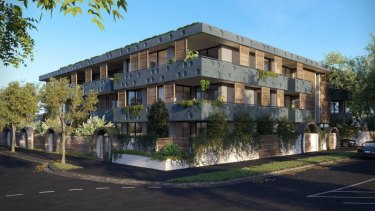 An artist's impression of the Steller apartments under development in Elwood.