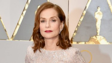 Isabelle Huppert attends this year's Academy Awards.