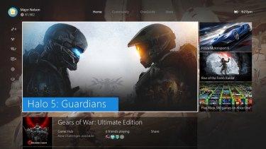 No more square panels: the new Xbox One splash screen.