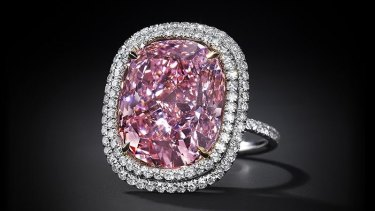 The largest cushion-shaped fancy vivid pink diamond ever to come to auction.