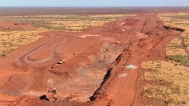 Scars on the landscape: the Roy Hill mine in the Pilbara.