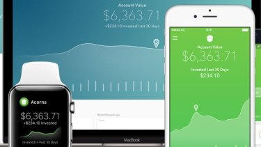The Acorns app rounds-up each purchase you make and stores it in an investment portfolio for you.