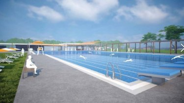 Artists impression of new Olympic pool promised for Pimpama.