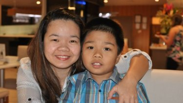 Success: Maria Sevilla and her son Tyrone, 10, will be granted permanent visas.