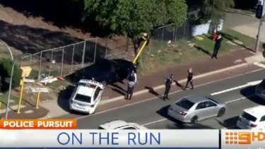 A 37-year-old man has led police on a chase through several suburbs.