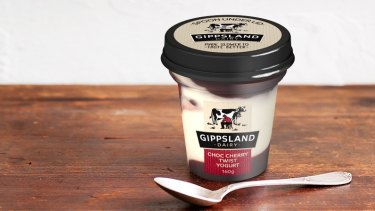 Gippsland Dairy's Choc Cherry Twist Yoghurt 160g topped the list of the most sugar-laden yoghurts in Australia.